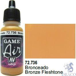 Vallejo Game Air 736: 17 ml. Bronze Fleshtone