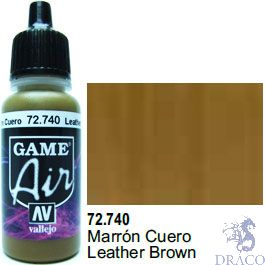 Vallejo Game Air 740: 17 ml. Leather Brown