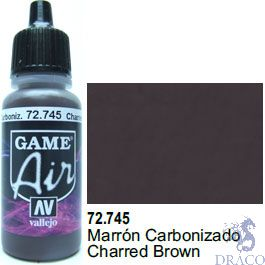 Vallejo Game Air 745: 17 ml. Charred Brown