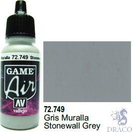 Vallejo Game Air 749: 17 ml. Stonewall Grey