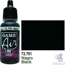 Vallejo Game Air 751: 17 ml. Black