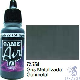 Vallejo Game Air 754: 17 ml. Gunmetal