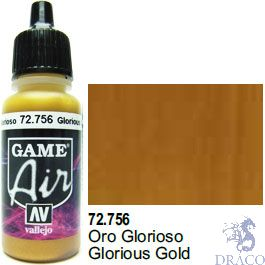 Vallejo Game Air 756: 17 ml. Glorious Gold