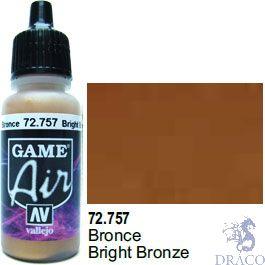 Vallejo Game Air 757: 17 ml. Bright Bronze