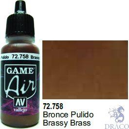 Vallejo Game Air 758: 17 ml. Brassy Brass