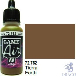 Vallejo Game Air 762: 17 ml. Earth
