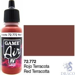 Vallejo Game Air 772: 17 ml. Red Terracotta