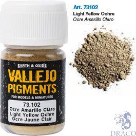 Vallejo Pigments 02: Light Yellow Ocre 30 ml.