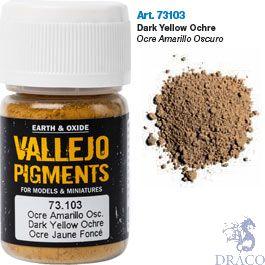 Vallejo Pigments 03: Dark Yellow Ocre 30 ml.