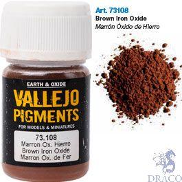 Vallejo Pigments 08: Brown Iron Oxide 30 ml.