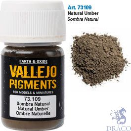 Vallejo Pigments 09: Natural Umber 30 ml.