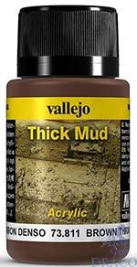 Vallejo Weathering Effects 811: Brown Thick Mud 40 ml.