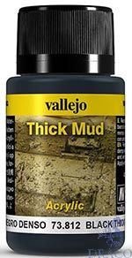Vallejo Weathering Effects 812: Black Thick Mud 40 ml.