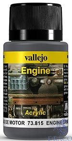 Vallejo Weathering Effects 815: Engine Grime 40 ml.