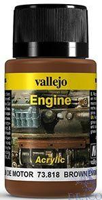 Vallejo Weathering Effects 818: Brown Engine Soot 40 ml.
