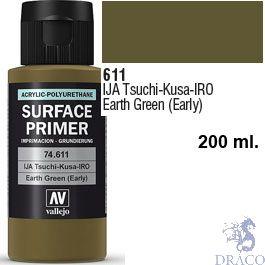 Vallejo Acrylic Polyurethane Primer - IJA Tsuchi-Kusa-IRO - Earth Green (early) 200 ml.
