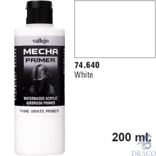 Vallejo Mecha Primer 640: White 200 ml.