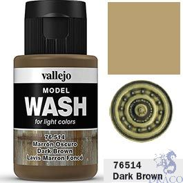 Vallejo Model Wash 14: Dark Brown 35 ml.