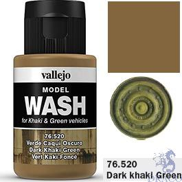 Vallejo Model Wash 20: Dark Khaki Green 35 ml.