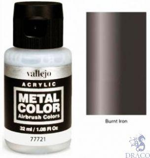 Vallejo Metal Color 21: Burnt Iron 32 ml.