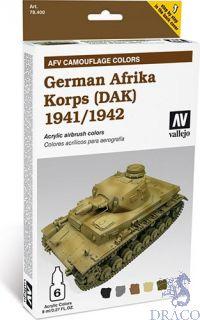 Vallejo German Afrika Korps 1941/1942 AFV Camouflage Colors (6 colors 8ml.)