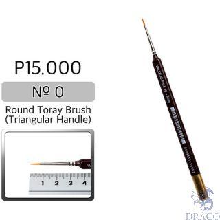 Vallejo Brush Series P515 / P15 - Round Toray, Triangular Handle- No 0