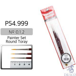 Vallejo Brush Series P510 / P54 - Round Toray Painter Set (Nº 0, 1, 2)