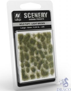 Vallejo Scenery 418: Wild Tuft - Light Brown (Large)