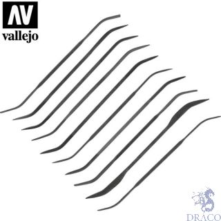 Vallejo Tools: Set of 10 Curved Files